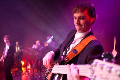 The Bentley Boys Bass player