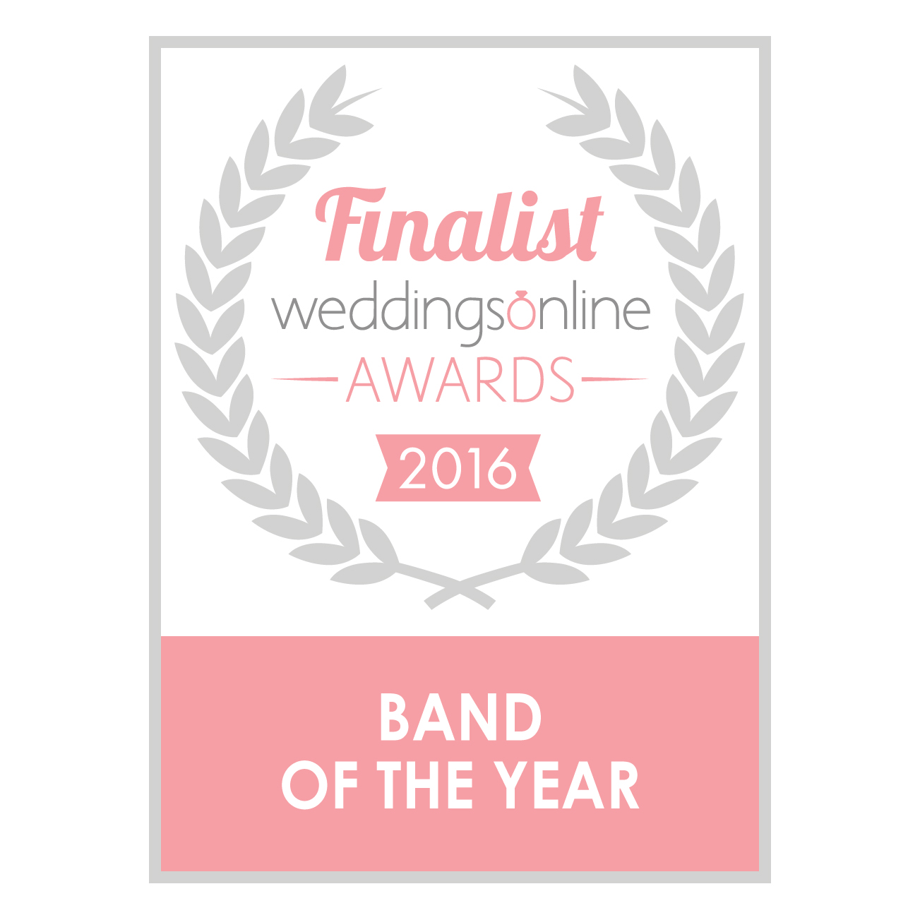Weddings Online Band of the Year Badge