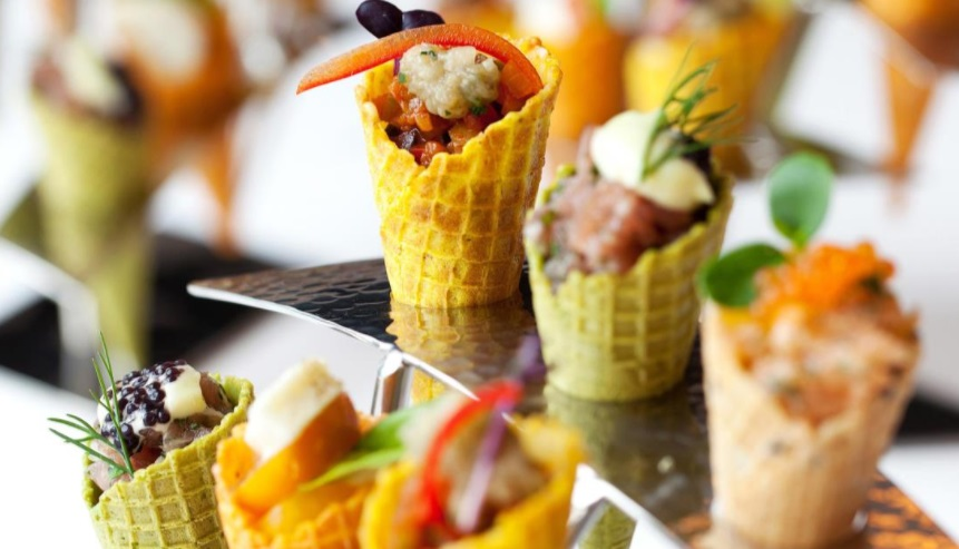 Scrumptious Canapés on offer to you and your wedding guests