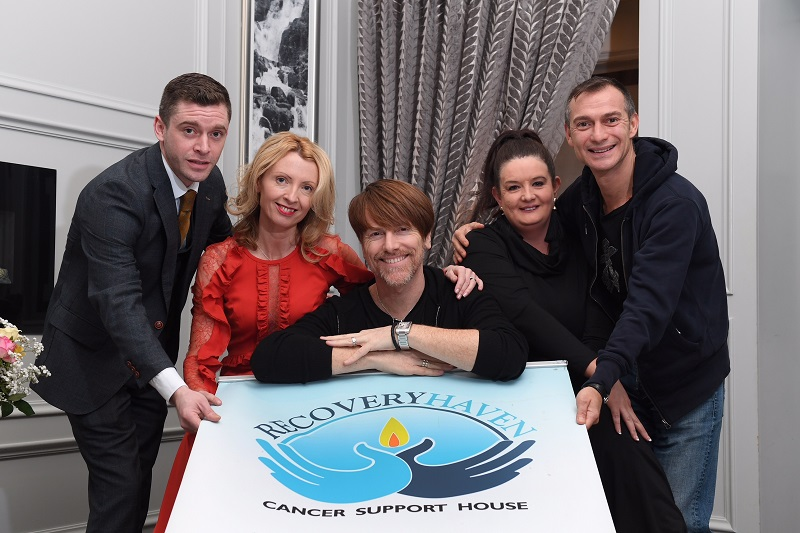Pictured at the launch of Don O'Neill's fundraising dinner dance in memory of his mother Mim O'Neill in aid of Recovery Haven Kerry are (l-r) Ballyroe Heights Hotel manager, Jonathan Collins, best dressed lady judge Orla Diffily, designer Don O'Neill, Recovery Haven Pr & Marketing Manager, Marisa Reidy and Pascal Guillermie. Photo by Domnick Walsh Photography